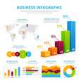Business infographic template with 3d chart