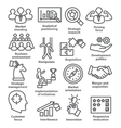 Business management icons in line style Pack 27 vector image vector image