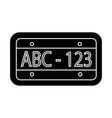 car number icon black sign vector image vector image