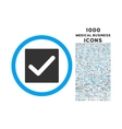 Check Rounded Icon with 1000 Bonus Icons vector image vector image