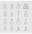 chemical glassware icons set vector image vector image