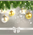 christmas congratulatory background with vector image vector image