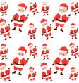christmas seamless pattern santa claus waving hand vector image vector image