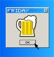 Computer beer message vector image