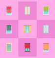 curtains and jalousies on plastic windows set vector image vector image