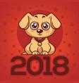 cute and kawaii labrador puppy dog symbol of new vector image vector image