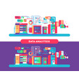 data analytics design flat vector image vector image
