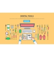 Dentist peck linear vector image vector image