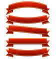 different horizontal banners in classic red colors vector image vector image
