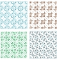 Elegant seamless pattern set pattern fills vector image