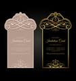 exclusive invitation card design vector image vector image