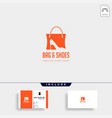 fashion bag shoping with high heel negative space vector image