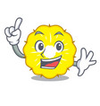 finger pineapple slice isolated on mascot vector image