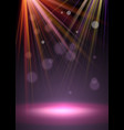 flash spotlights with stage dust and light vector image