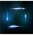 frame formed by lights and sparkles vector image