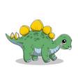 funny cartoon batriceratops dinosaur vector image