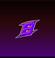 game logo design letter b with vector image vector image