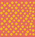 gold coins pattern on a red pink vector image