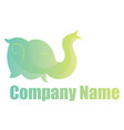 green elephant head simple logo on a white vector image vector image