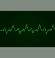 heartbeat cardiogram graph green line on display vector image vector image