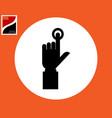 icon human hand finger presses the button vector image