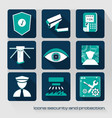 icons security and protection vector image vector image