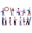 large set full length male and female business vector image vector image