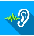 Listen Signal Flat Long Shadow Square Icon vector image