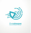 live stream logo design idea vector image