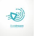 live stream logo design idea vector image vector image