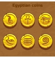 old gold Egyptian coins game element vector image vector image