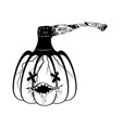 pumpkin and hatchet vector image