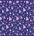 purple pink tribal triangles repeat pattern design vector image vector image