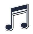 quaver music note icon vector image vector image