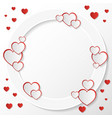 red and white hearts greeting card invitation vector image vector image