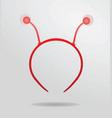 red headband like a bee vector image vector image