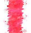 red rose petals with red brush stroke space vector image