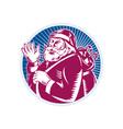 Santa Claus Father Christmas Retro vector image vector image