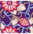 Seamless pattern with stylized flowers Ornate vector image vector image