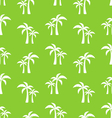 Seamless Pattern with Tropical Palm Trees vector image