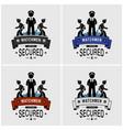 security guards logo design artwork of watchman vector image vector image