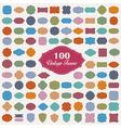 Set of 100 colourful vintage frame vector image vector image