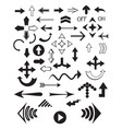 set of various arrows vector image vector image