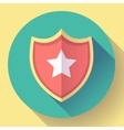 shield icon with star - protection symbol Flat vector image vector image
