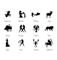 Signs of zodiac vector image vector image
