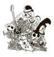 Skull Doodle vector image vector image