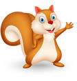squirrel cartoon presenting vector image vector image