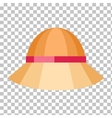 Summer Hat Isolated on Checkered Background vector image vector image