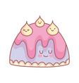 sweet jelly menu restaurant cartoon food cute vector image