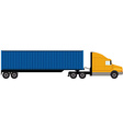 Truck with container vector image